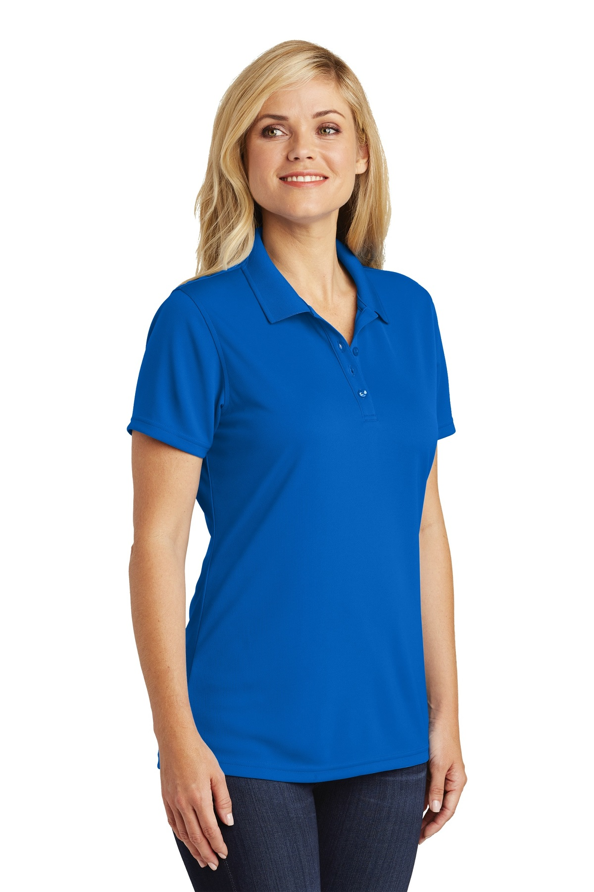 port authority embroidered womens dry zone uv micromesh