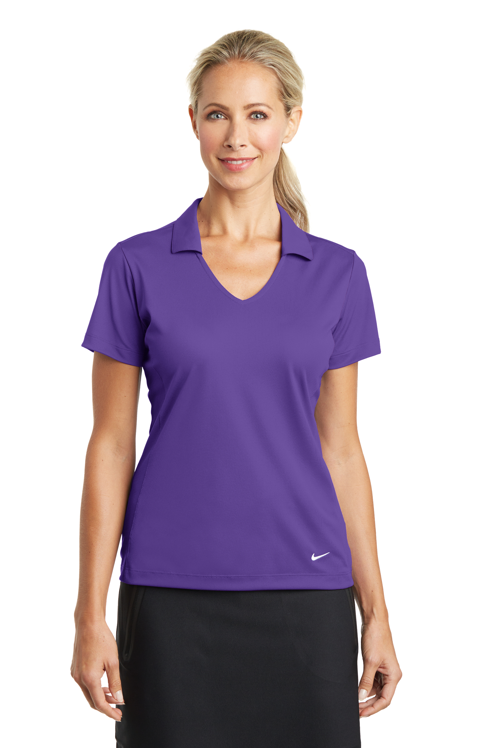 Nike Embroidered Women's Dri-FIT Vertical Mesh Polo