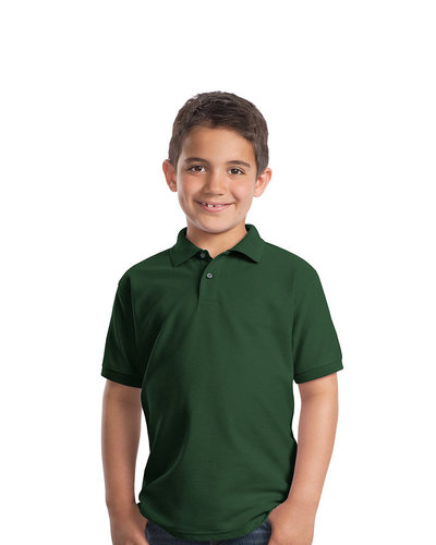 Port Authority Embroidered Youth Silk Touch Pique Polo