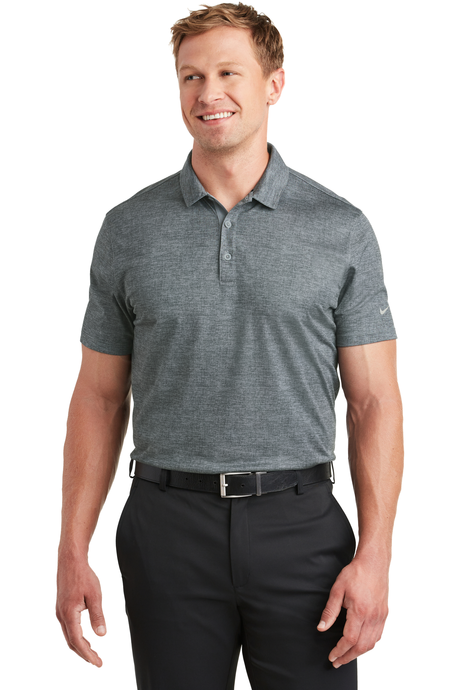 Nike Embroidered Men's Dri-FIT Crosshatch Polo