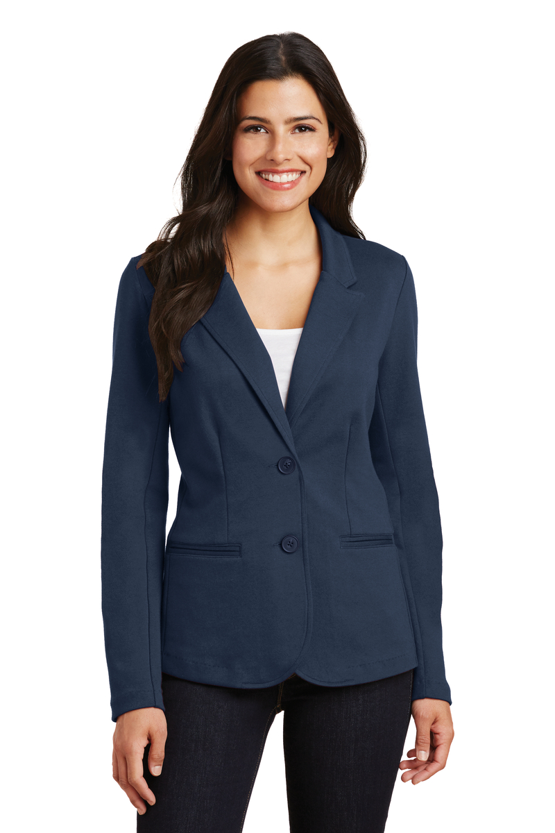 Port Authority Embroidered Women's Knit Blazer