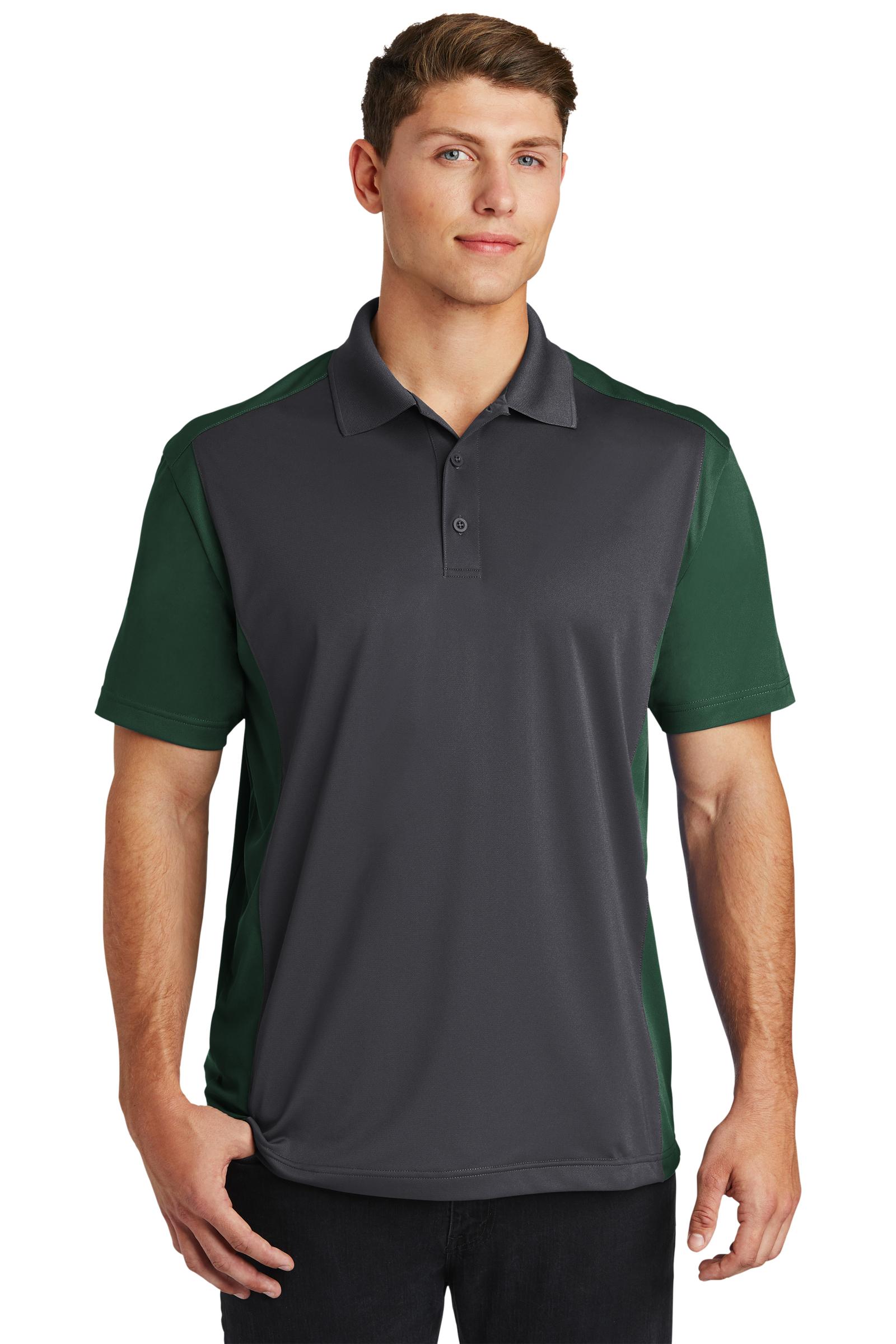 Sport-Tek Embroidered Men's Colorblock Micropique Sport-Wick Polo
