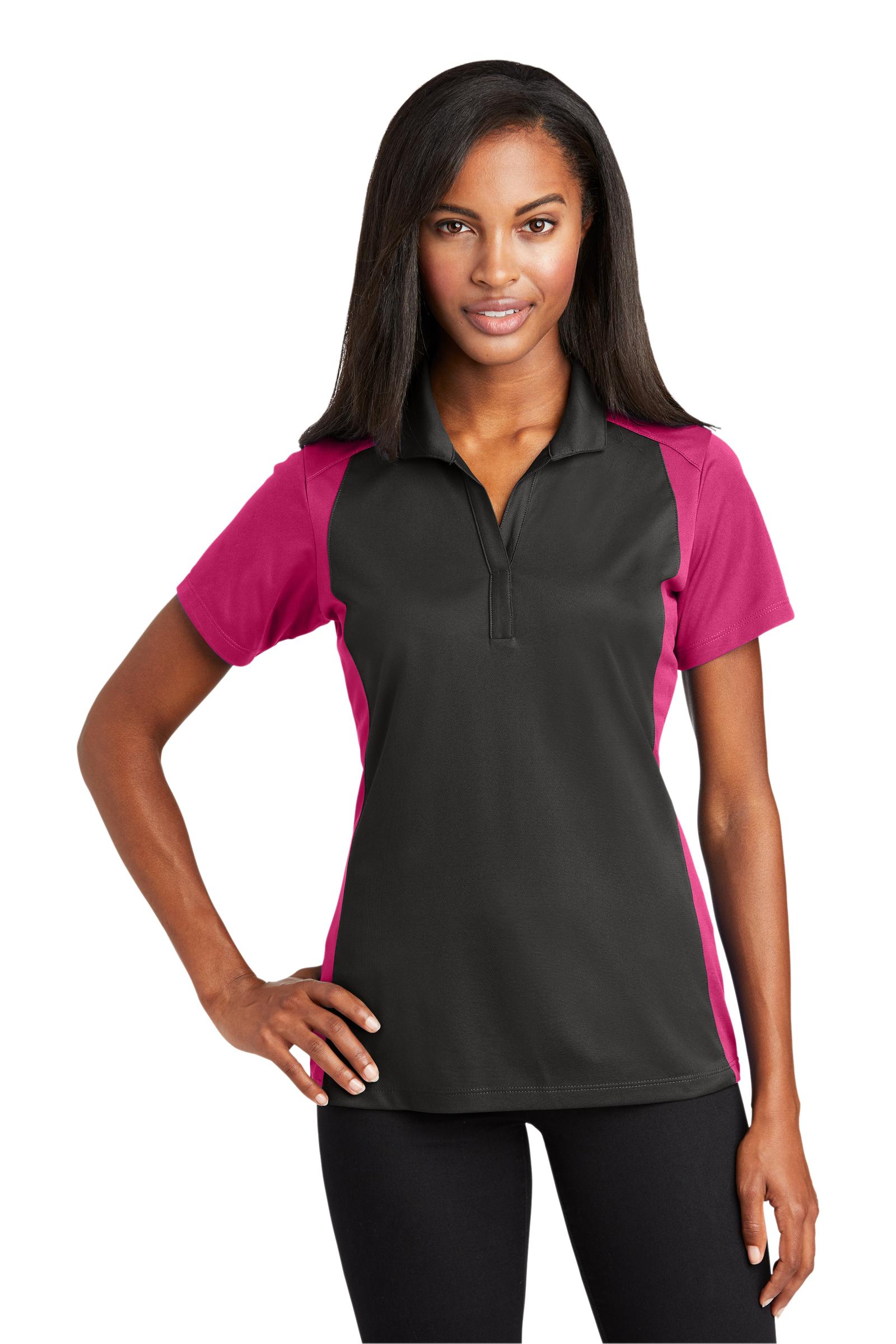 Sport-Tek Embroidered Women's Colorblock Micropique Sport-Wick Polo