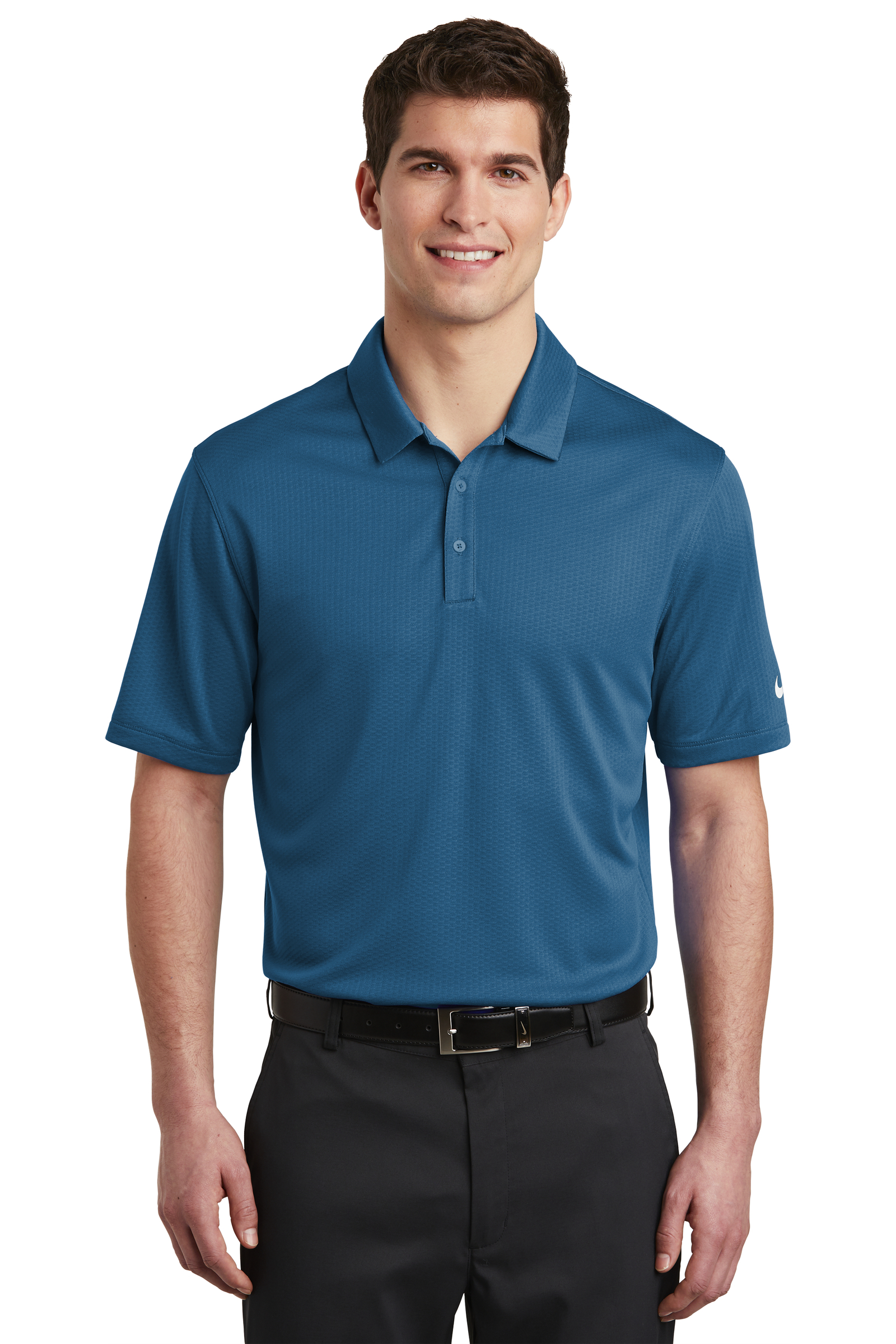 Nike Embroidered Men's Dri-FIT Hex Textured Polo