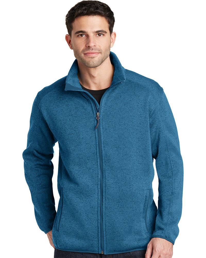 Port Authority Embroidered Men's Sweater Fleece Jacket