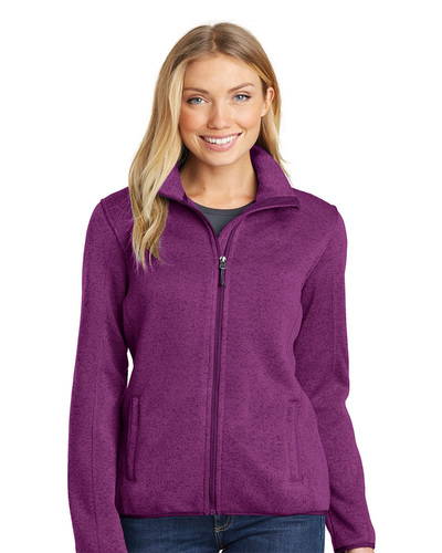 Port Authority Embroidered Women's Sweater Fleece Jacket