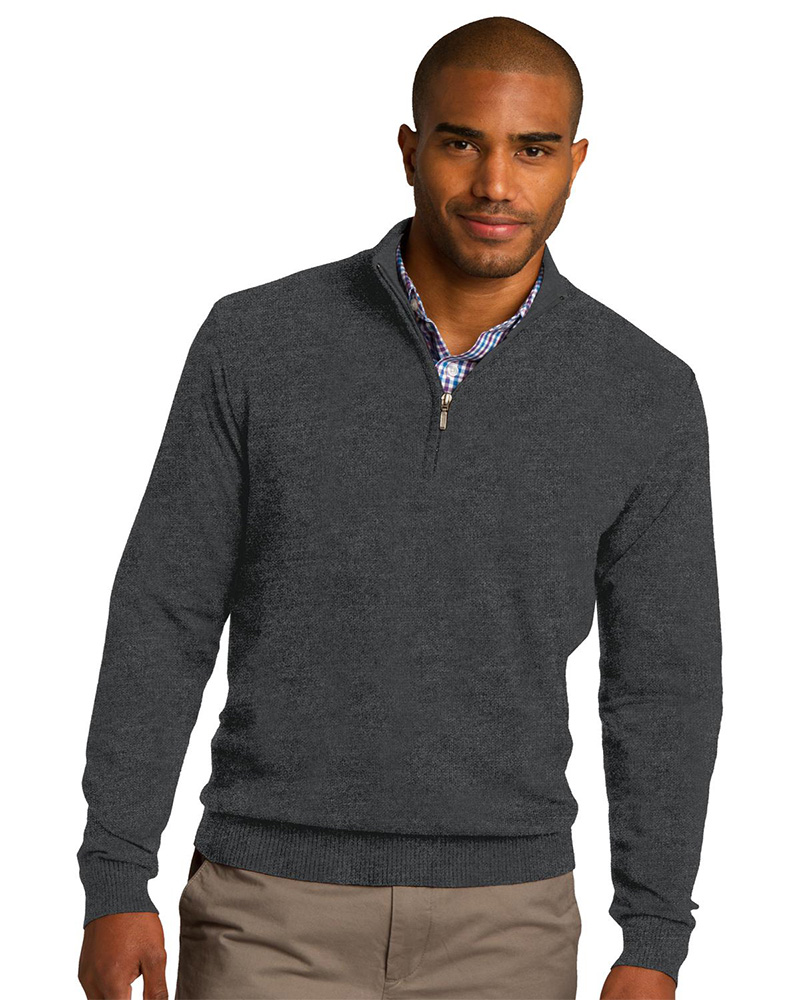 Port Authority Embroidered Men's 1/2 Zip Sweater