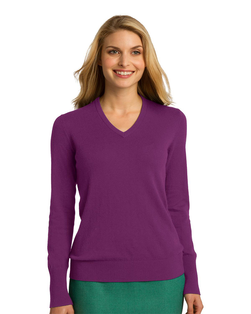 Port Authority Embroidered Women's V-Neck Sweater