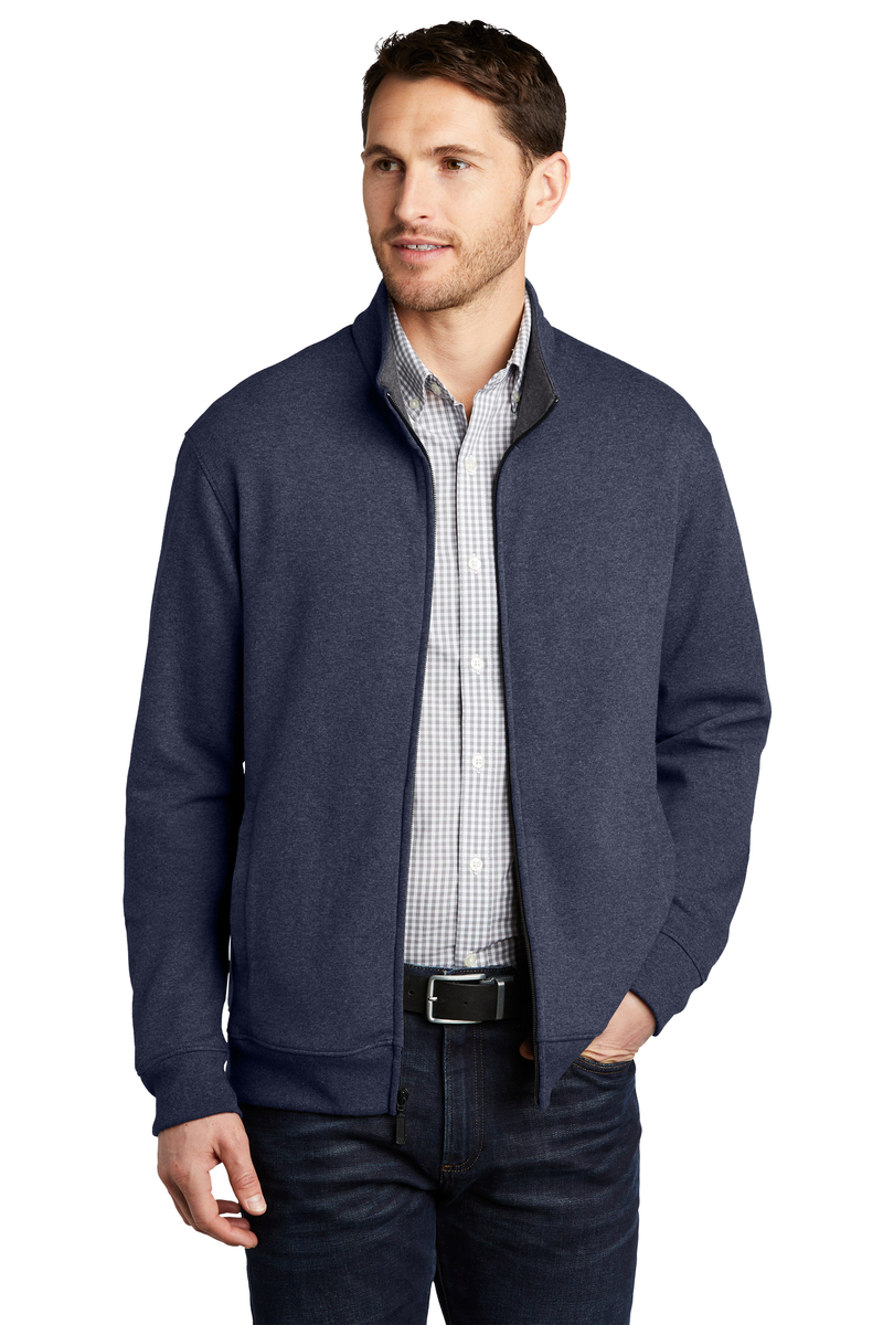 Port Authority Embroidered Men's Interlock Full-Zip