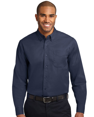 Port Authority Embroidered Men's Tall Long Sleeve Easy Care Shirt