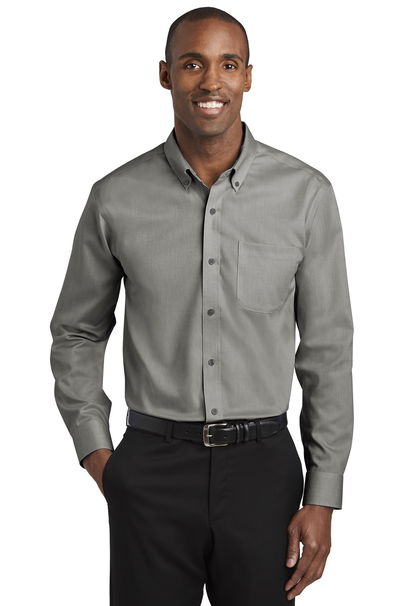 Red House Embroidered Men's Pinpoint Oxford Non-Iron Shirt