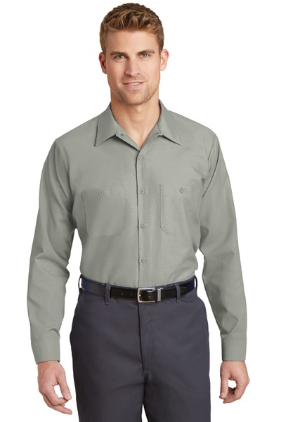 Red Kap Embroidered Men's  Long Sleeve Industrial Work Shirt