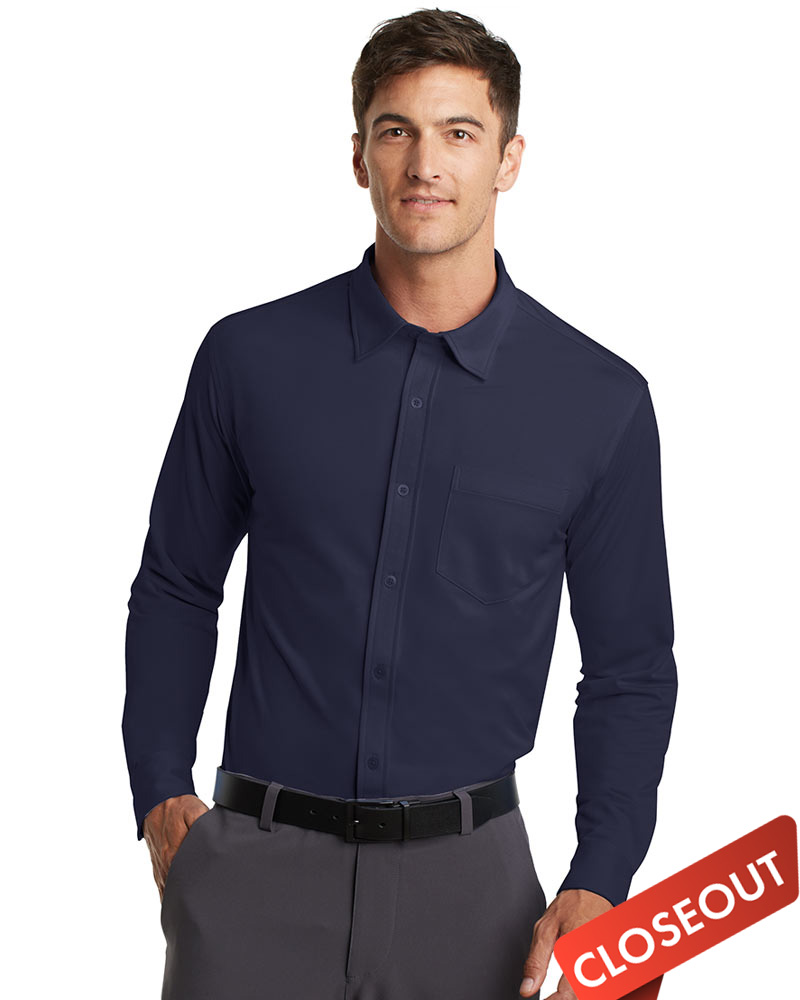 Queensboro Eco Pique Knit Buttondown Polo - Last Chance!