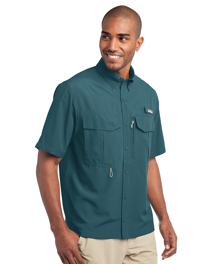 Eddie Bauer Embroidered Men's Short Sleeve Performance Fishing Shirt