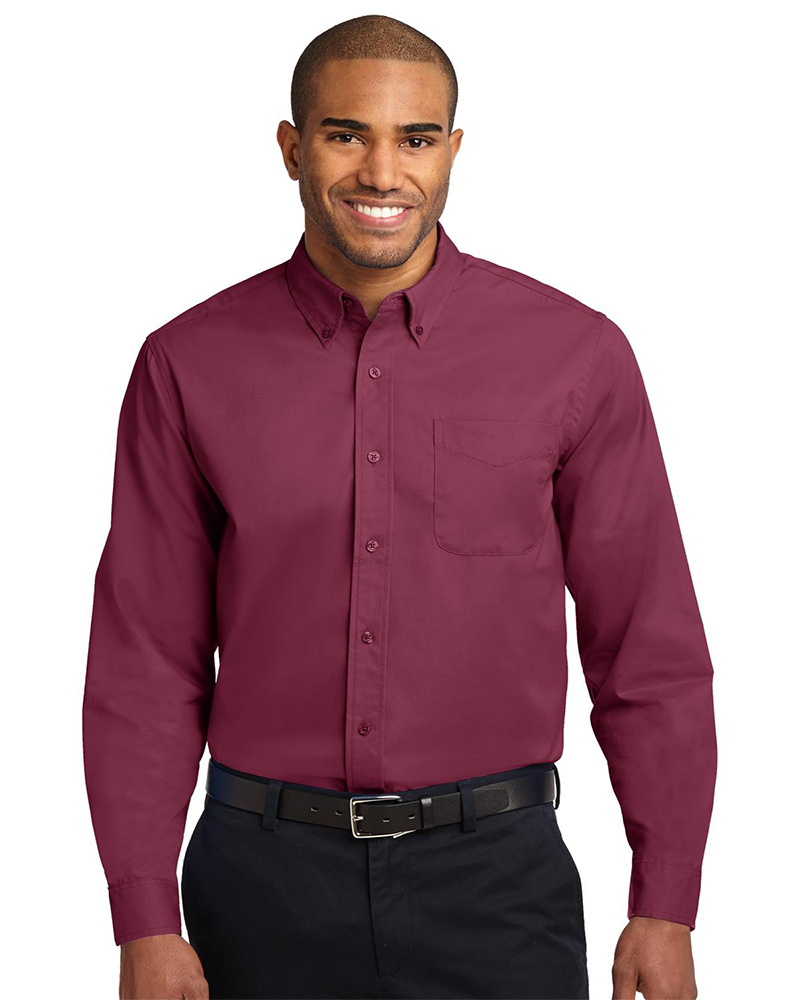 Port Authority Embroidered Men's Long Sleeve Easy Care Shirt