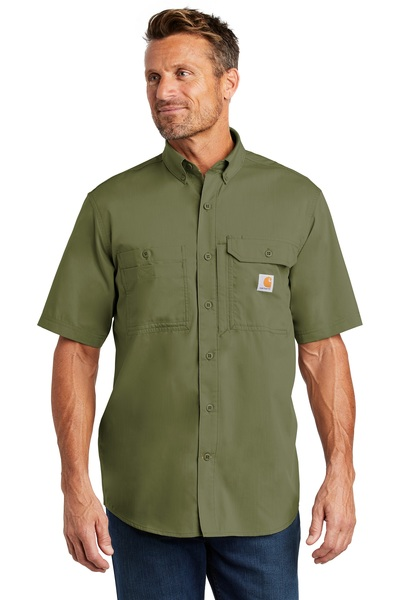 Carhartt Embroidered Men's Ridgefield Solid Short Sleeve Shirt