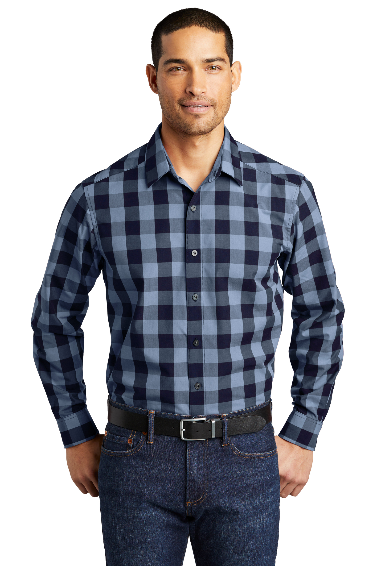 Port Authority Embroidered Men's Everyday Plaid Shirt