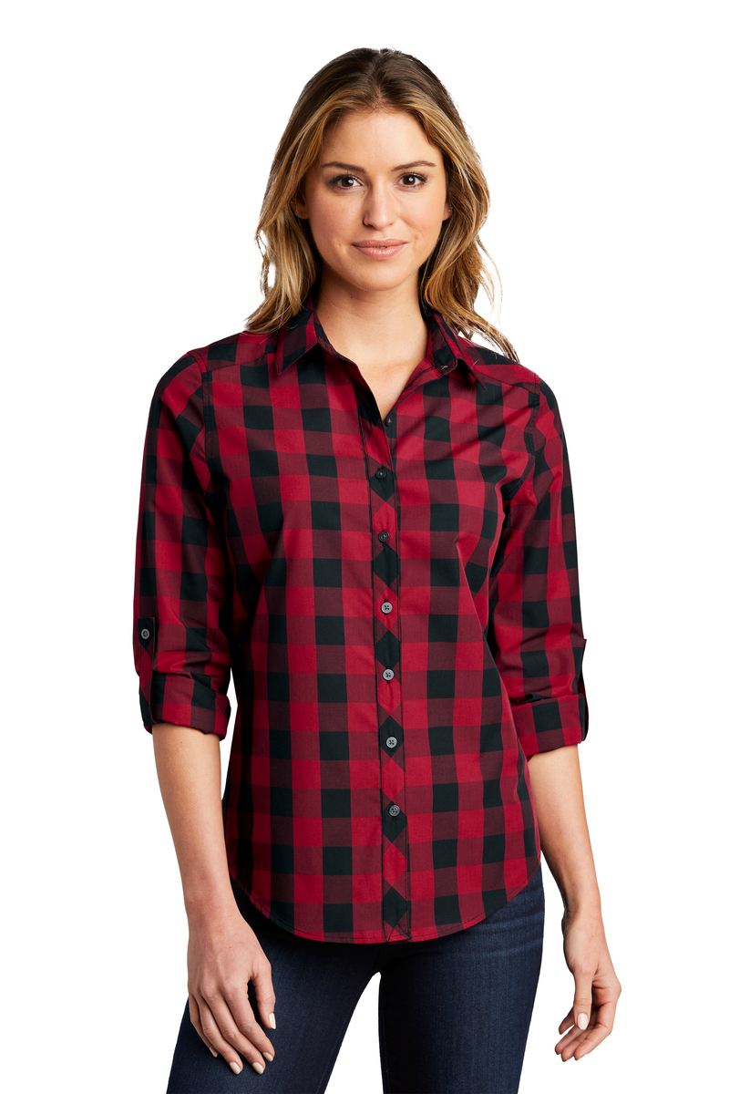 Port Authority Embroidered Women's Everyday Plaid Shirt