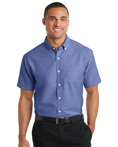 Port Authority Embroidered Men's Short Sleeve SuperPro Oxford Shirt