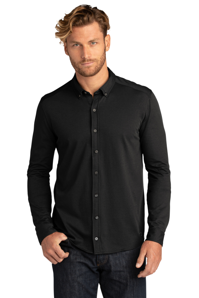 OGIO Embroidered Code Stretch Long Sleeve Button-Up