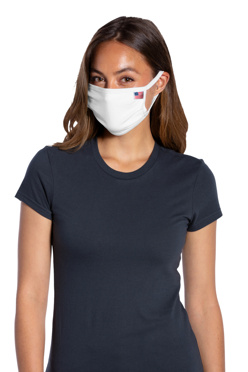 Port Authority Embroidered All-American Cotton Knit Face Masks (5 Pack)