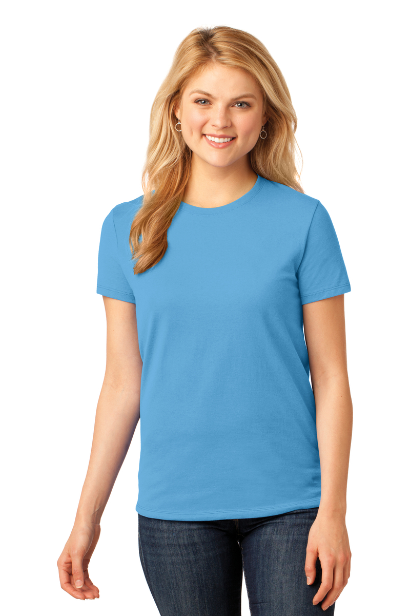 Port & Company Printed Women's Core Cotton Tee - Single Color Logo