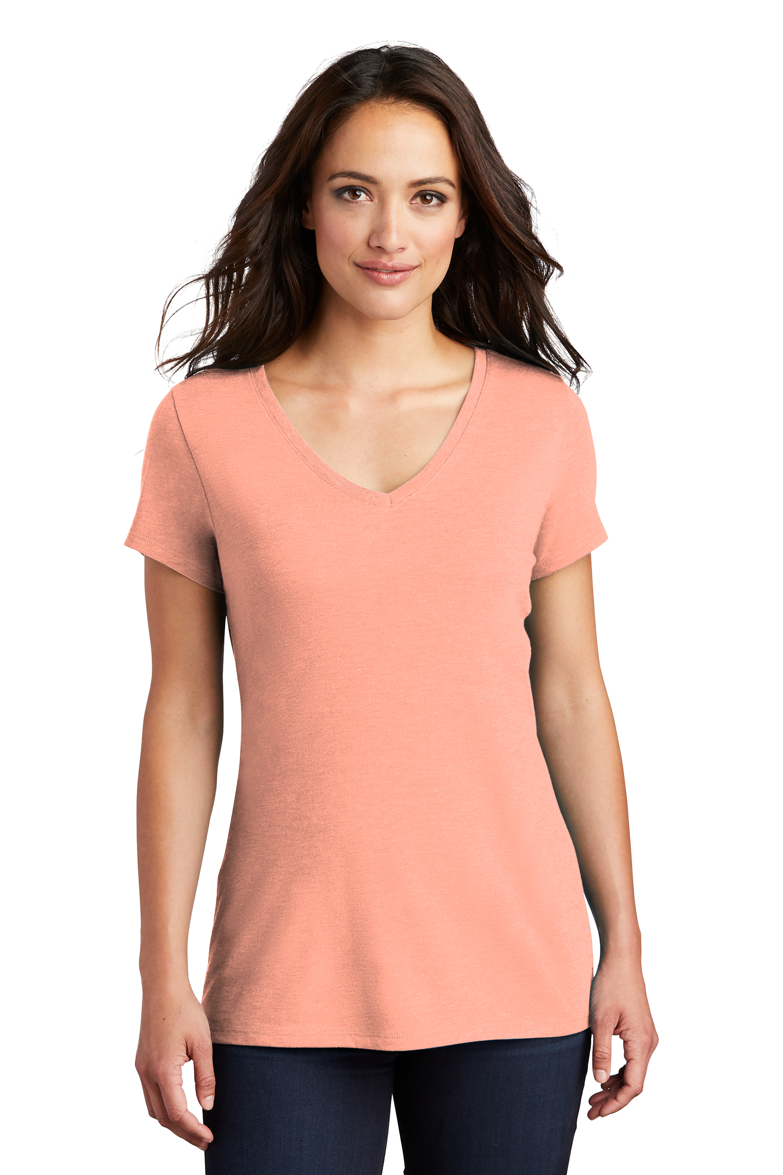 District Embroidered Women's Perfect Tri V-Neck Tee