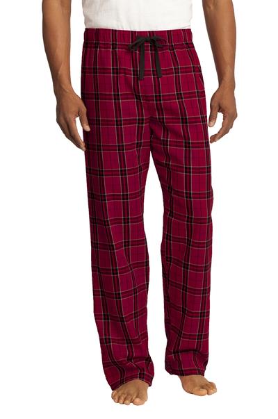 District Men's Flannel Plaid Pajama Pants