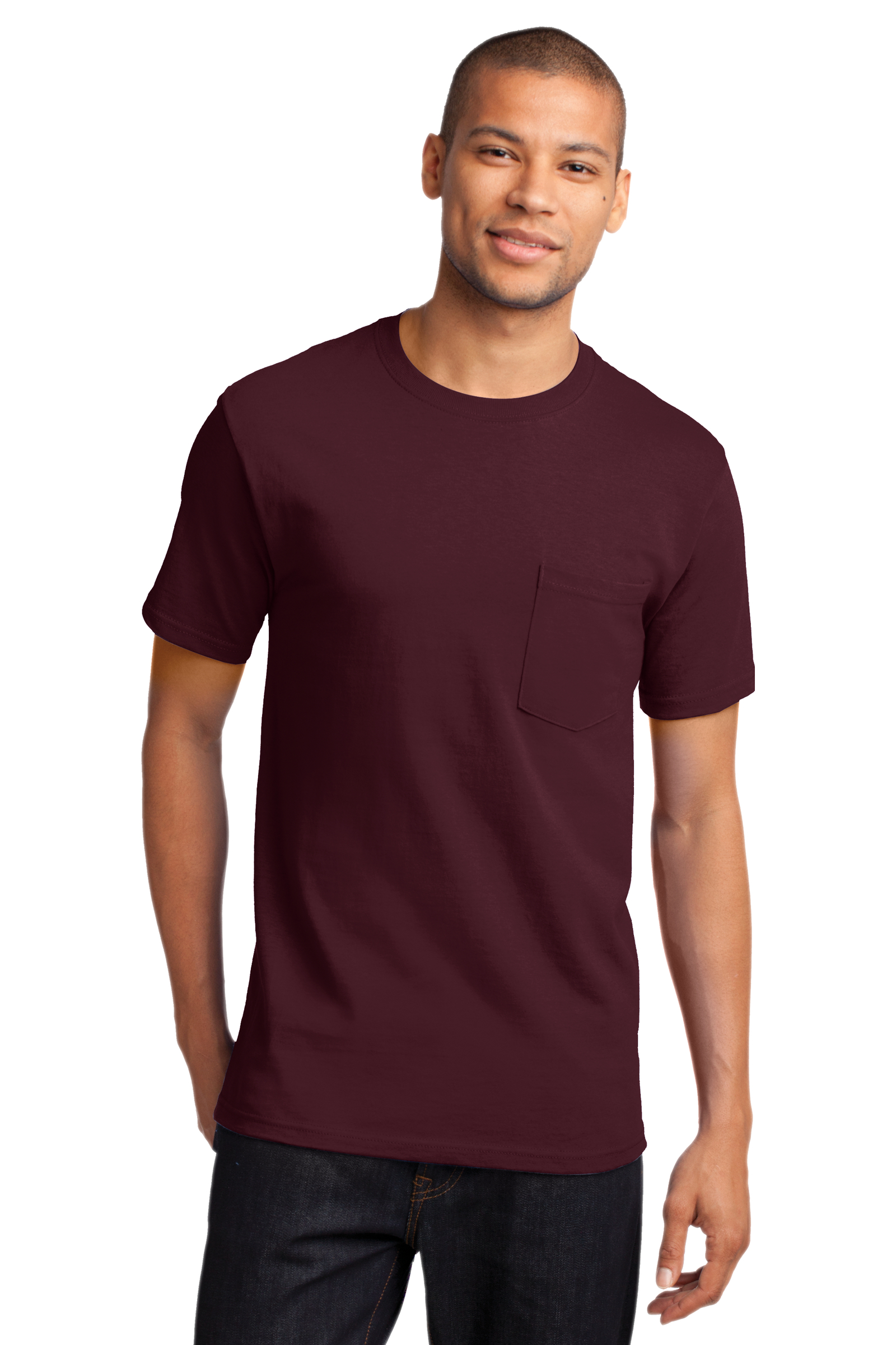 Port & Company Embroidered Men's Essential Pocket Tee