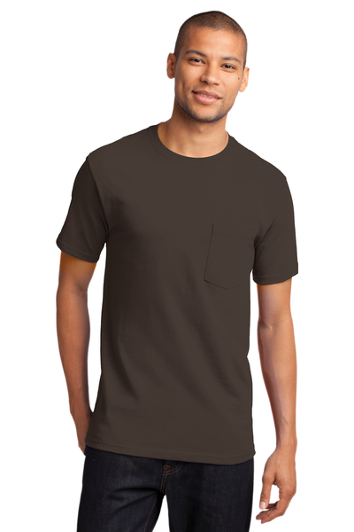 Port & Company Printed Men's Essential Pocket Tee