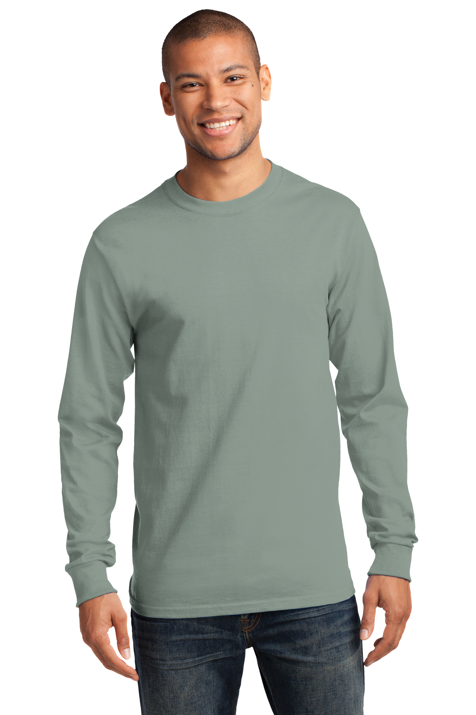 Port & Company Embroidered Men's Long Sleeve Essential Tee