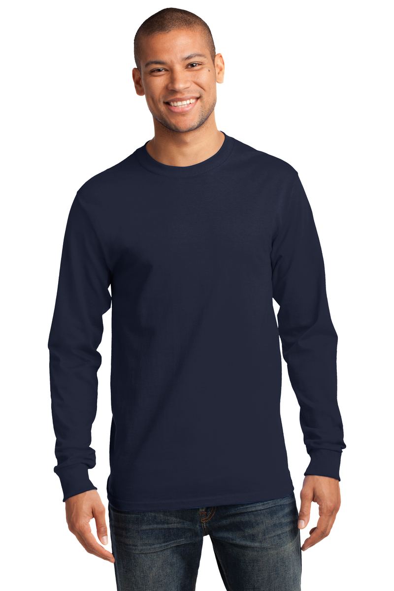 Port & Company Printed Men's Long Sleeve Essential Tee