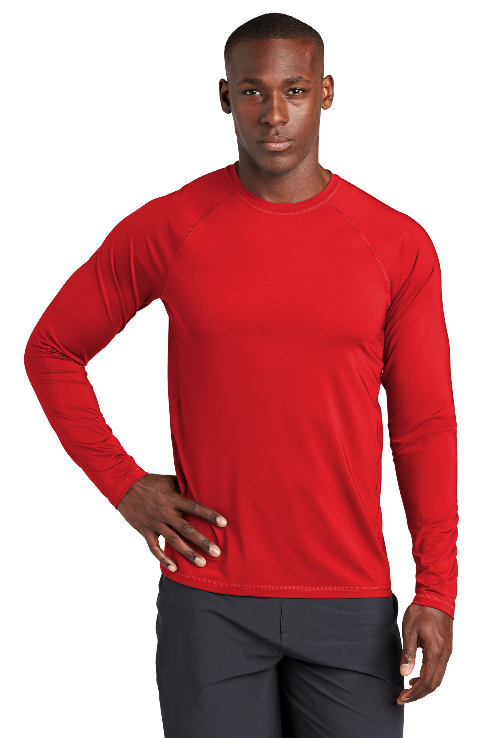 Sport-Tek Embroidered Men's Long Sleeve Rashguard Tee