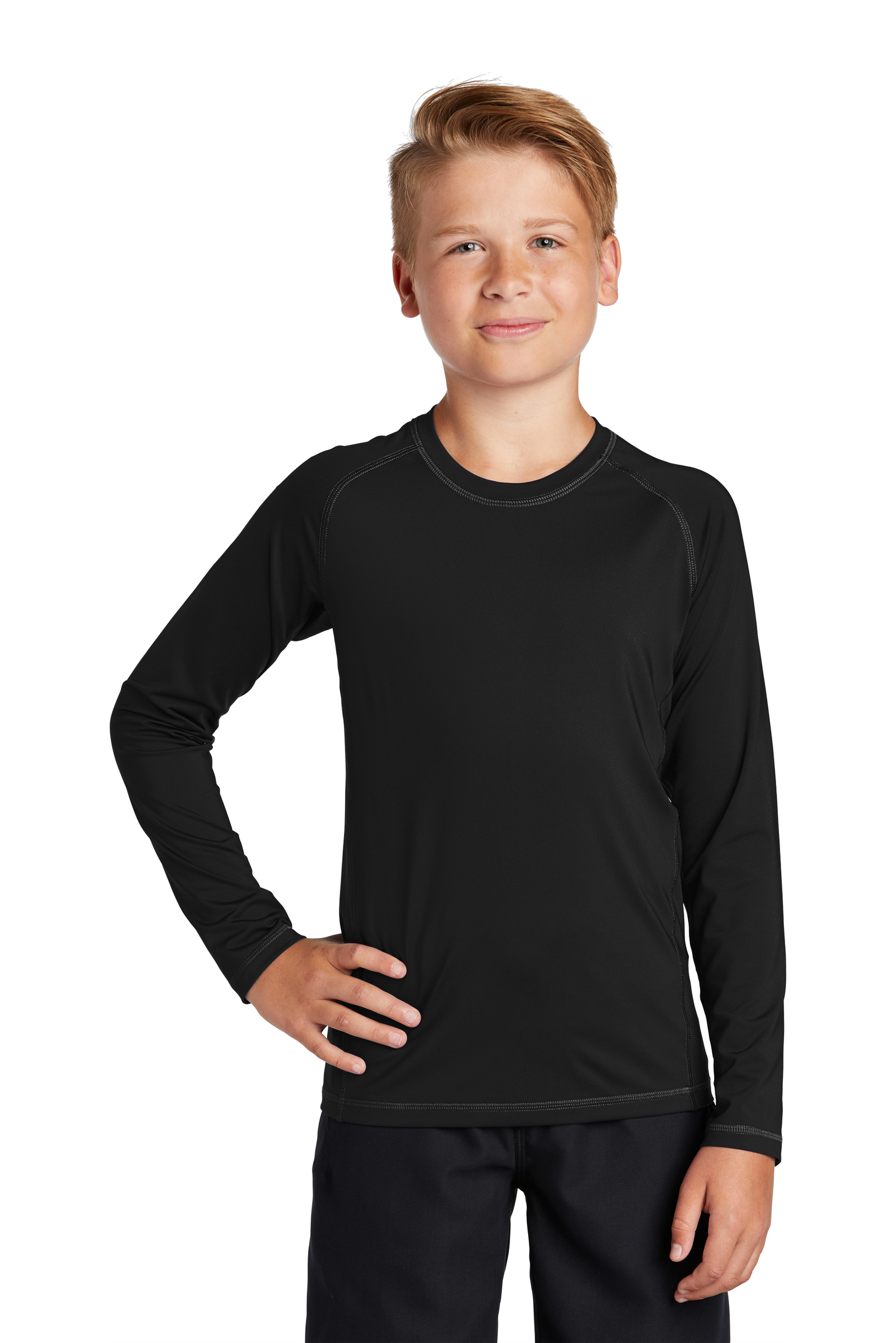 Sport-Tek Embroidered Youth Long Sleeve Rashguard Tee