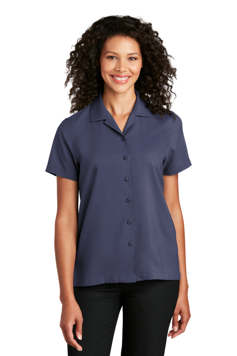 Port Authority Embroidered Women's Short Sleeve Performance Staff Shirt