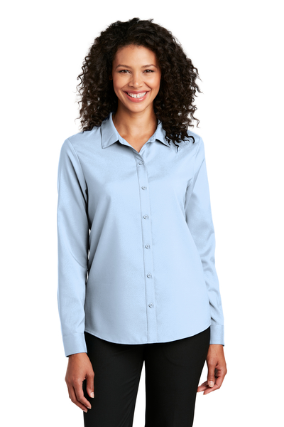 Port Authority Embroidered Women's Long Sleeve Performance Staff Shirt