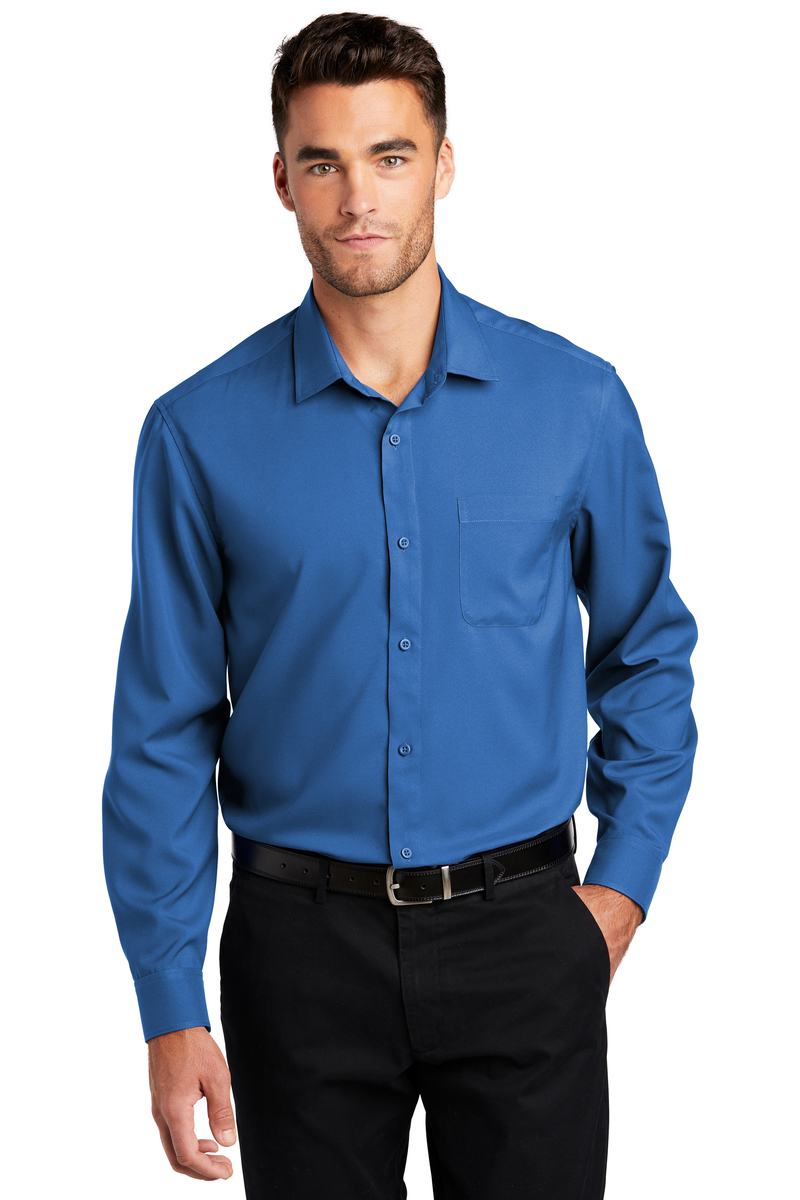 Port Authority Embroidered Men's Long Sleeve Performance Staff Shirt