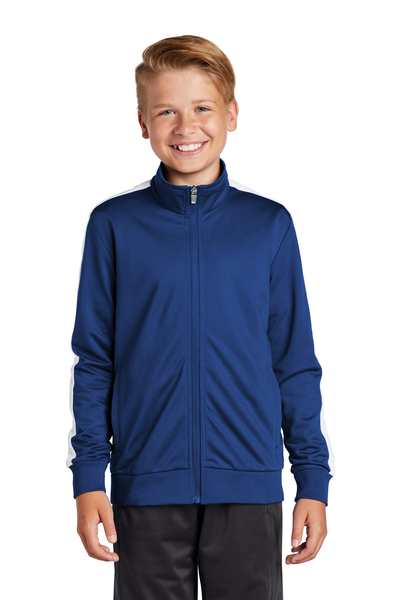Sport-Tek Embroidered Youth Tricot Track Jacket