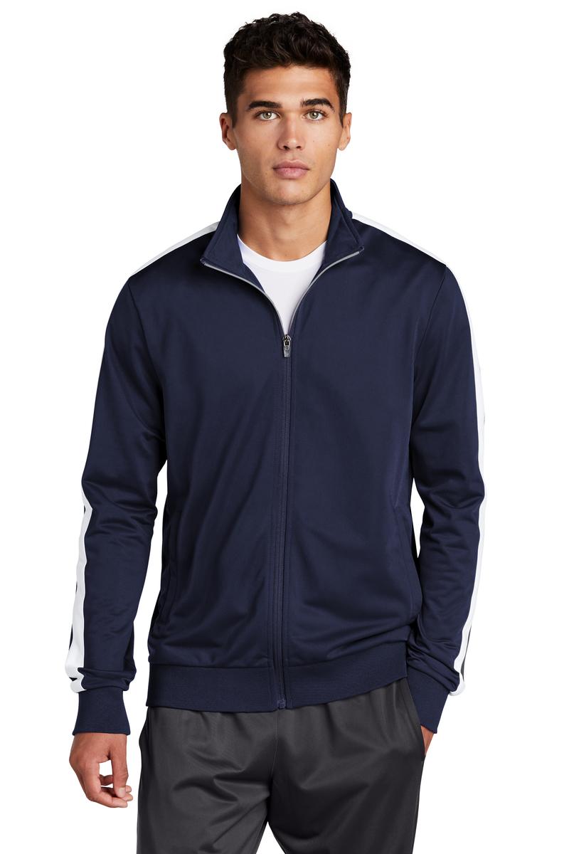Sport-Tek Embroidered Men's Tricot Track Jacket