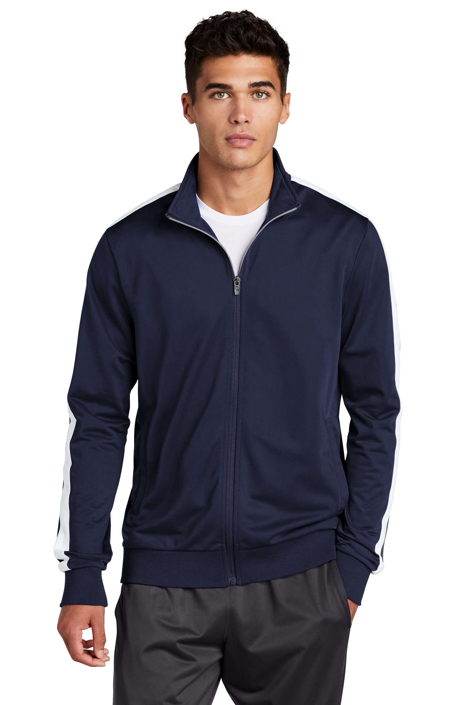 Sport-Tek Embroidered Men's Tricot Track Jacket