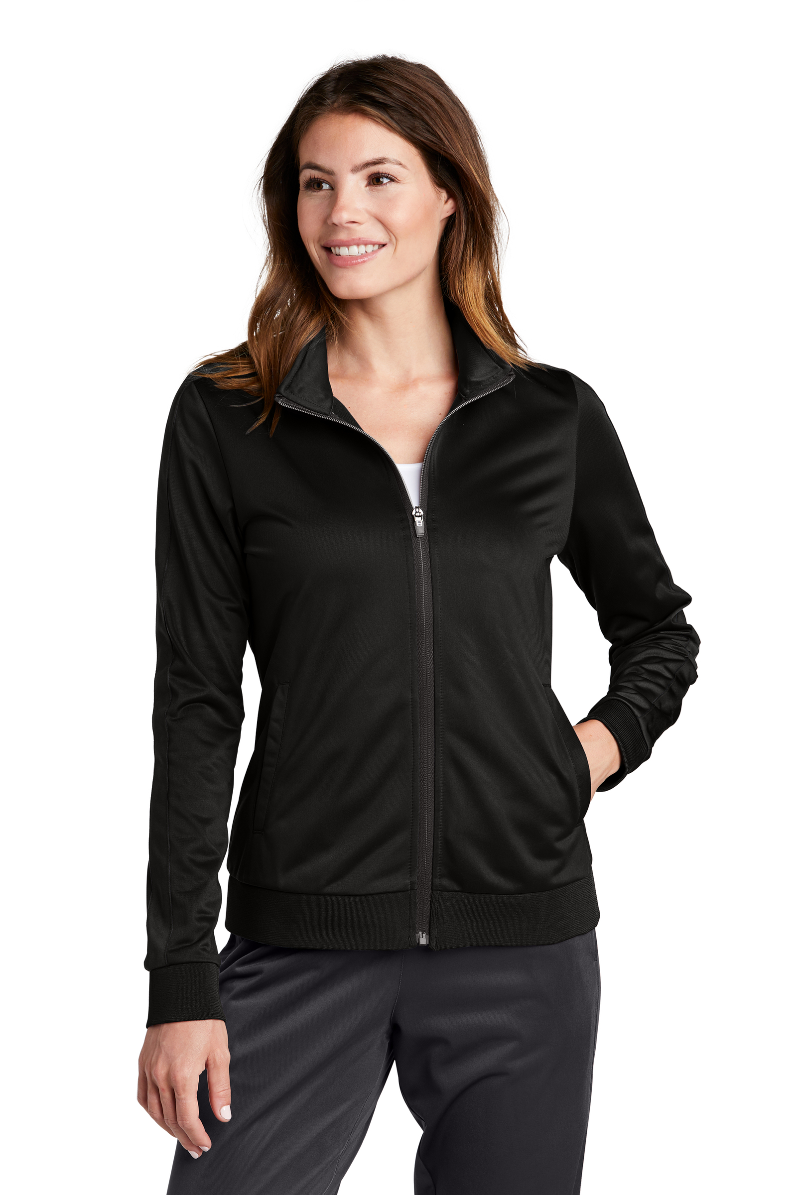 Sport-Tek Embroidered Women's Tricot Track Jacket