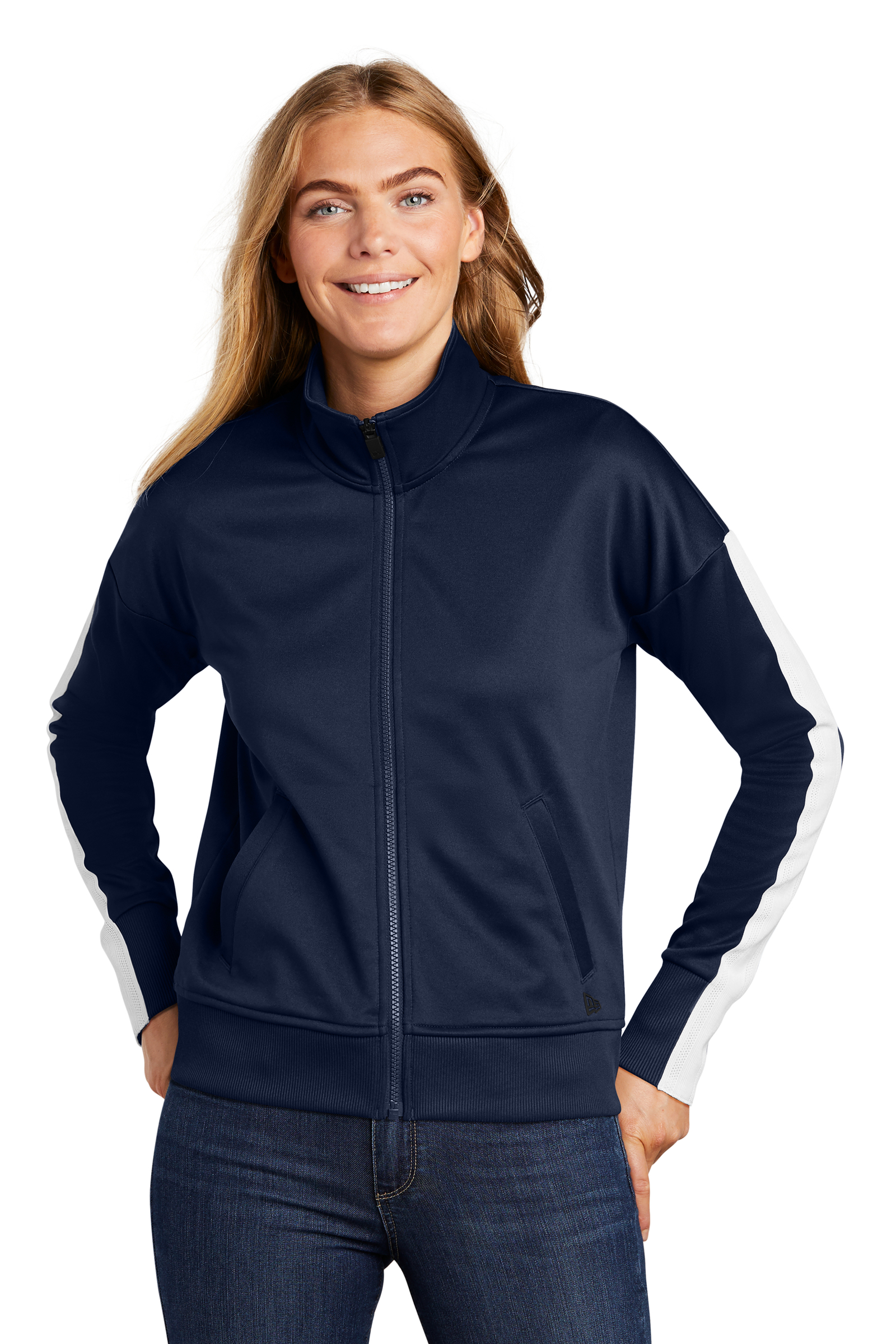 New Era Embroidered Women's Track Jacket