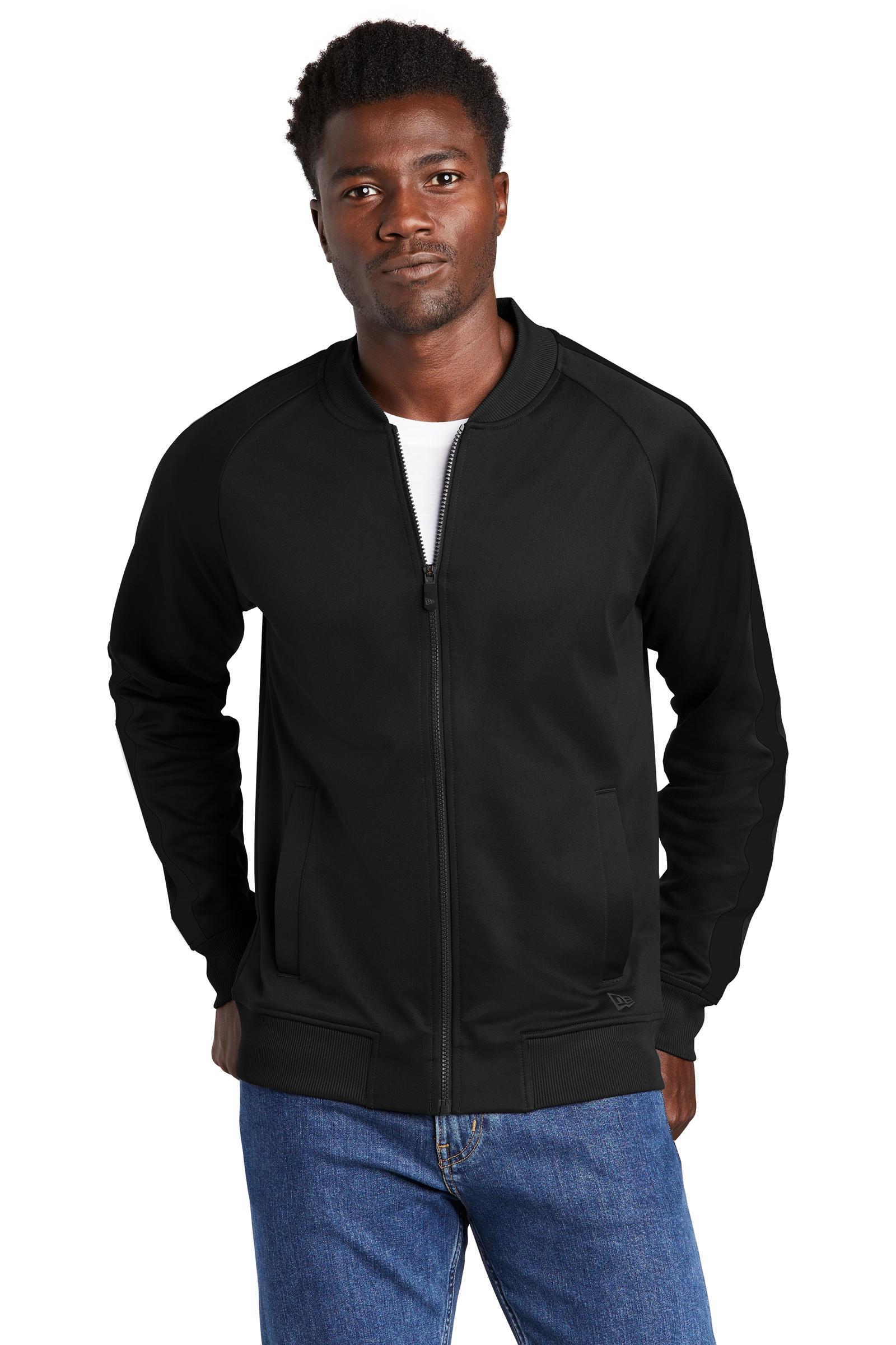New Era Embroidered Men's Track Jacket