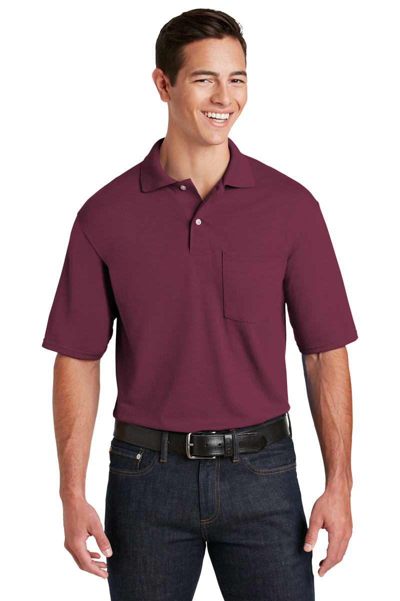 JERZEES Embroidered Men's SpotShield Jersey Knit Sport Shirt with Pocket