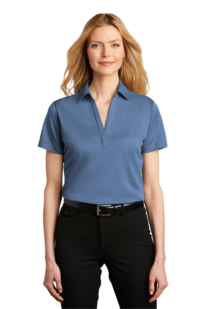 Port Authority Embroidered Women's Heathered Silk Touch Performance Polo