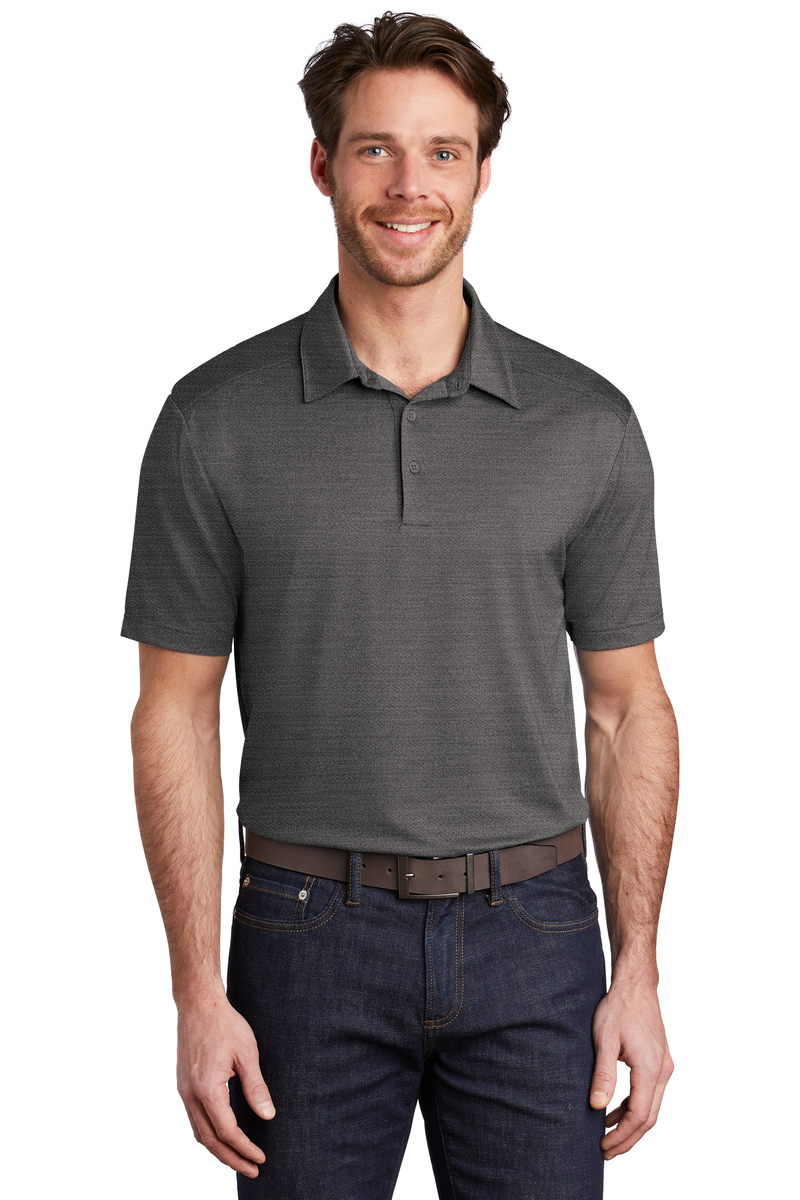 Port Authority Embroidered Men's Stretch Heather Polo