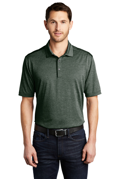 Port Authority Embroidered Men's Shadow Stripe Polo