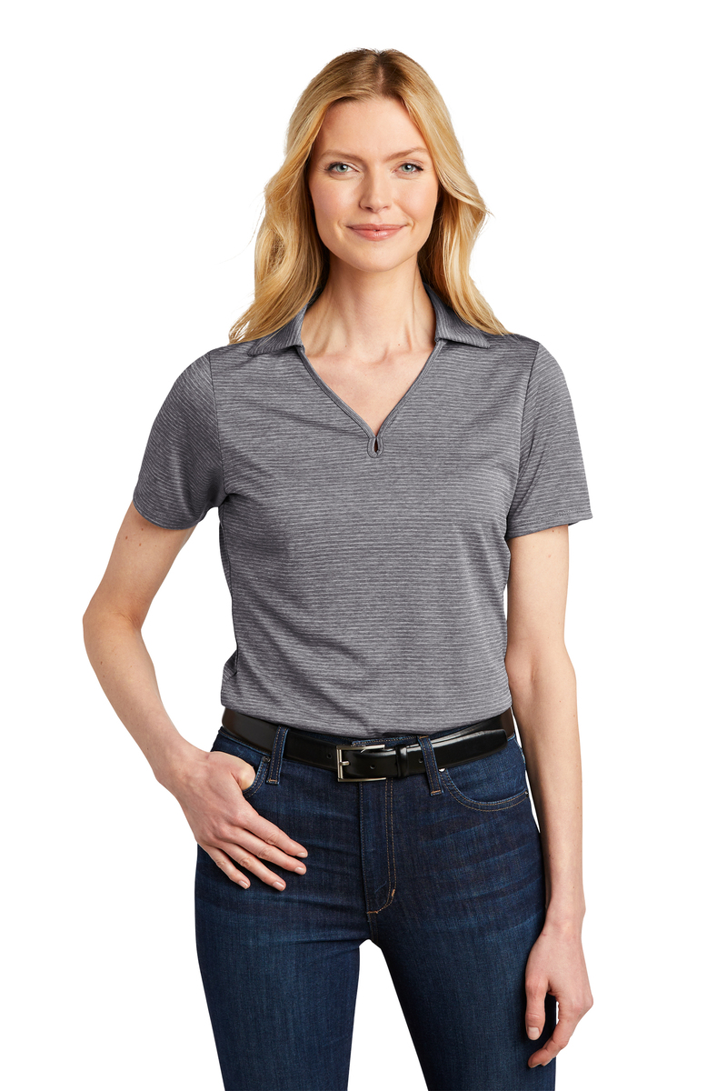 Port Authority Embroidered Women's Shadow Stripe Polo