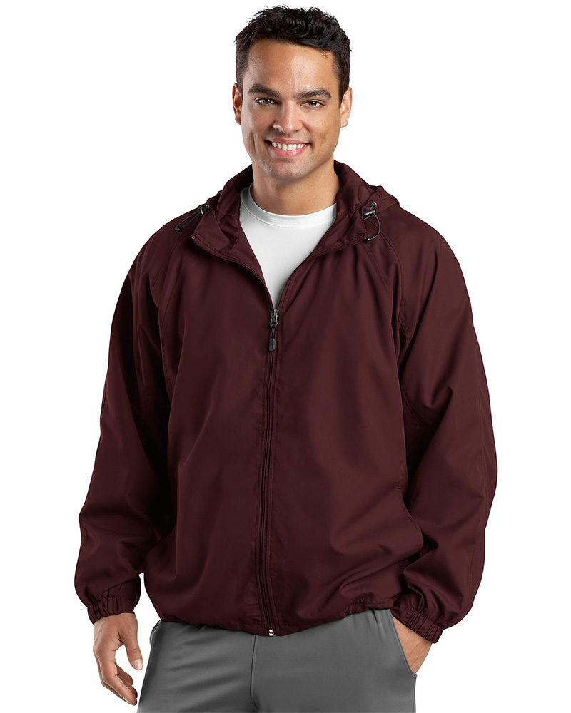 Sport-Tek  Embroidered Men's Hooded Weather Resistant Jacket