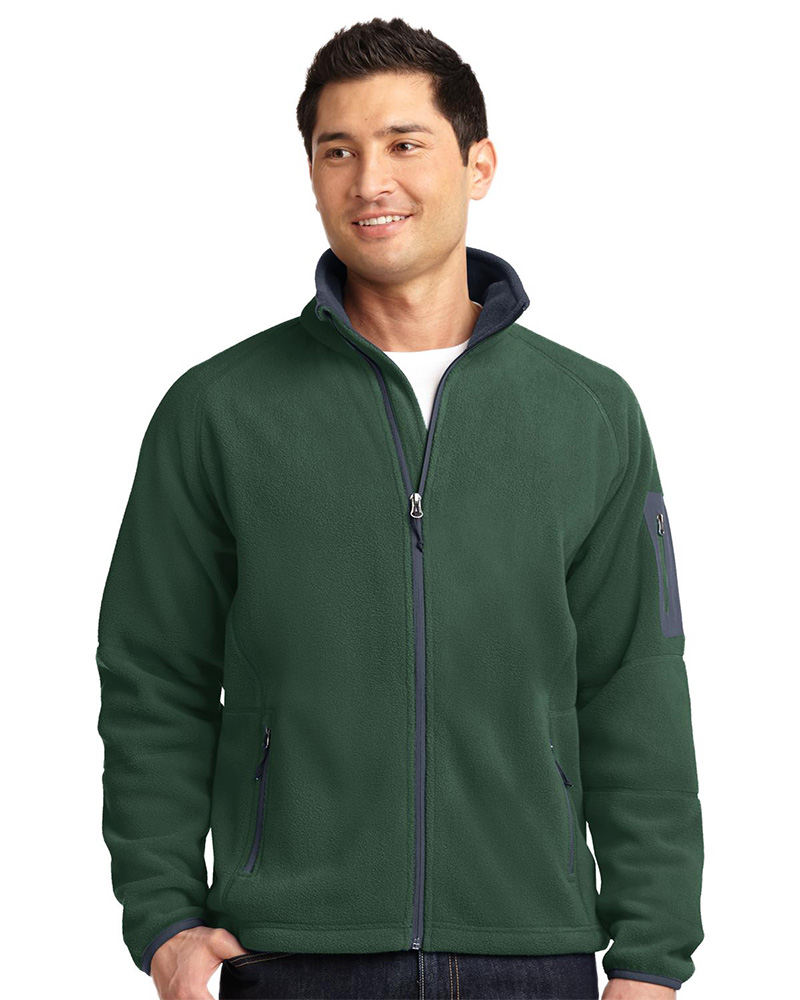 Port Authority Embroidered Men's Enhanced Value Fleece Full-Zip Jacket
